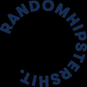 random hipster shit logo circle